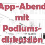 App-Abend mit Podiumsdiskussion